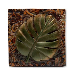 Other - Rustic Look Leaf Tin Tile Wall Art